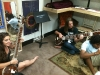 John's CSSSA students trying some North Indian instruments (2)